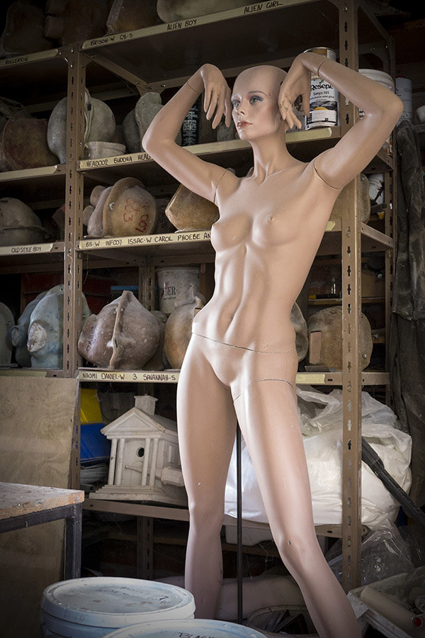 Photo: Nick Servian, mannequin study Purfex factory, Photospace Gallery fine art photography, Wellington New Zealand