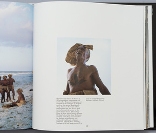 P129 of 'The Spirited Earth' by Victoria Ginn, Pub. Rizzoli NY, 1990, exhibition at Photospace Gallery, Wellington New Zealand July 2014