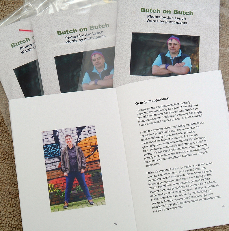 'Butch on Butch' exhibition catalogue, $NZ20.00, Jac Lynch, portrait photographs of butch women,  being butch, Photographic portrait exhibition, Photospace Gallery, Wellington New Zealand January 2015