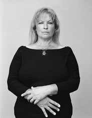 'Michelle, 2011' portrait, Jan Young photography exhibition 'between' Photospace Gallery October-November 2014, portrait black and wite, New Zealand fine art photography