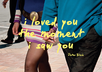 cover photo I loved you the moment I saw you by Peter Black Photographs: Peter Black, with essay by Ian Wedde, Book design: Spencer Levine. Publisher: Victoria University Press 2011