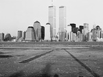 'Essex/Greene St, Jersey City, NJ 07302, 1992' - photo: Gretchen So, World Trade Center, Twin Towers, photography exhibition at Photospace Gallery Wellington New Zealand September 11th 2014
