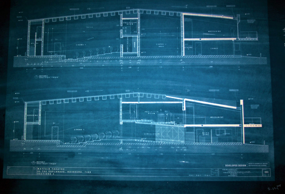 'Blue Print' (cyanotype) - Susie Baker, alternative process, cyanotype, chemigram, Photospace Gallery contemporary New Zealand photography exhibition