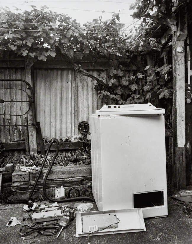 Andrew Ross - Salvaged parts from Warwick and Nicole's old washing machine, 13-4-20,, what Ive done in the lockdown, silver gelatin large format photography, photography during the covid-19 lockdown in New Zealnd, Photospace Gallery contemporary New Zealand photography wellington nz, a month of sundays online exhibition, Levin Horowhenua during Covid-19 lockdown Alert Level 4