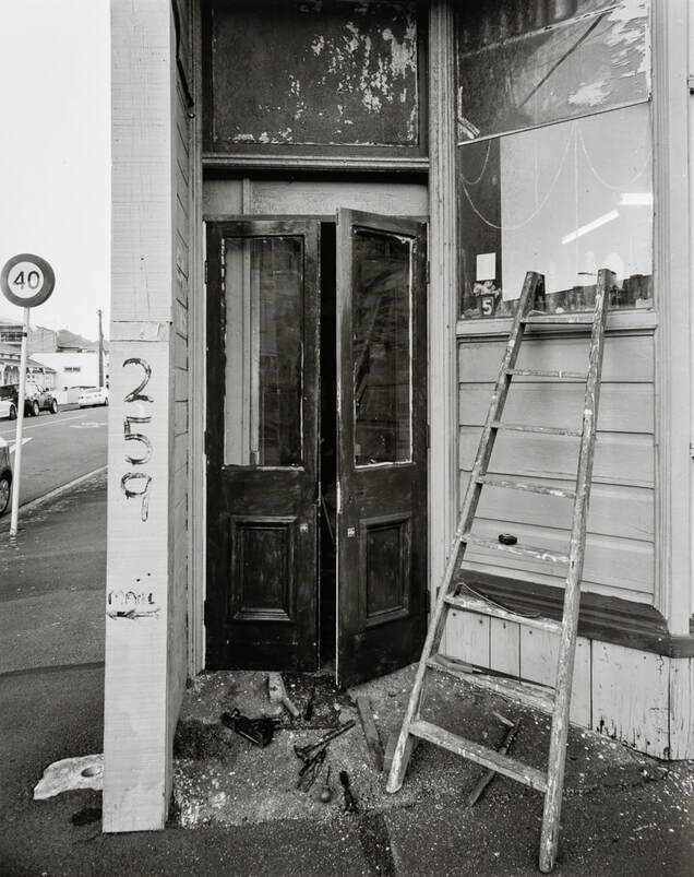 Andrew Ross - Fitted a new pair of doors to the front of the house April 2020, what I've done in the lockdown, silver gelatin large format photography, photography during the covid-19 lockdown in New Zealnd, Photospace Gallery contemporary New Zealand photography wellington nz, a month of sundays online exhibition, Levin Horowhenua during Covid-19 lockdown Alert Level 4