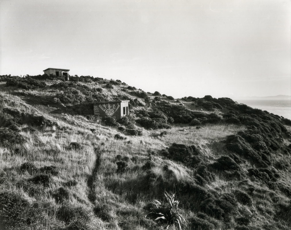 Andrew Ross - 'Climbed up to the WWII bunkers above Red Rocks, 6/5/20, April 2020, what I've done in the lockdown, silver gelatin large format photography, photography during the covid-19 lockdown in New Zealnd, Photospace Gallery contemporary New Zealand photography wellington nz, a month of sundays online exhibition, Levin Horowhenua during Covid-19 lockdown Alert Level 4