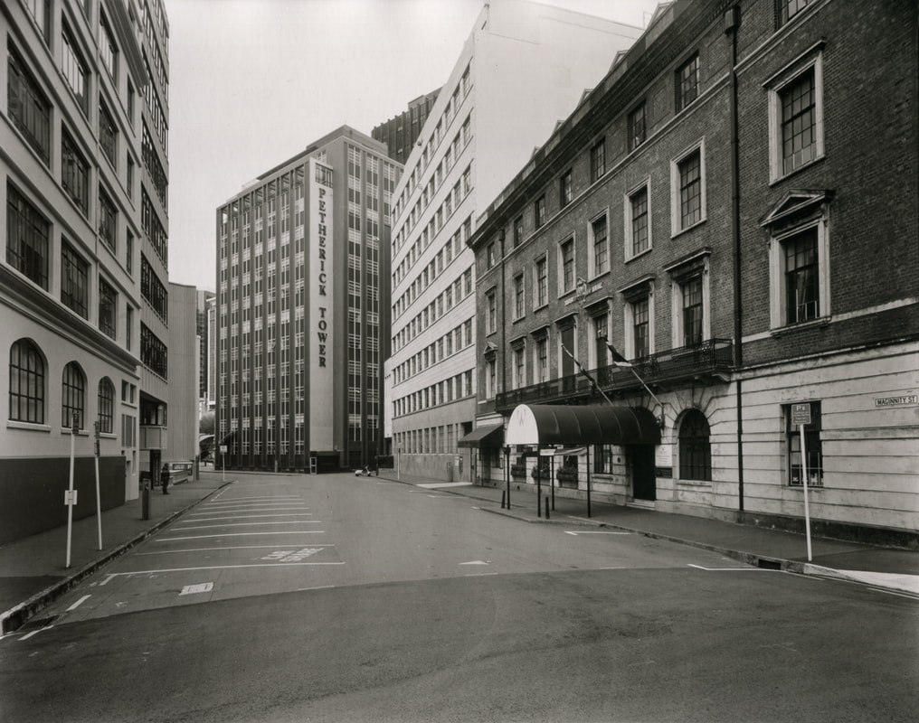 Andrew Ross - 'Very quiet downtown, Maginnity St, 28/4/20',what I've done in the lockdown, silver gelatin large format photography, photography during the covid-19 lockdown in New Zealnd, Photospace Gallery contemporary New Zealand photography wellington nz, a month of sundays online exhibition, Levin Horowhenua during Covid-19 lockdown Alert Level 4