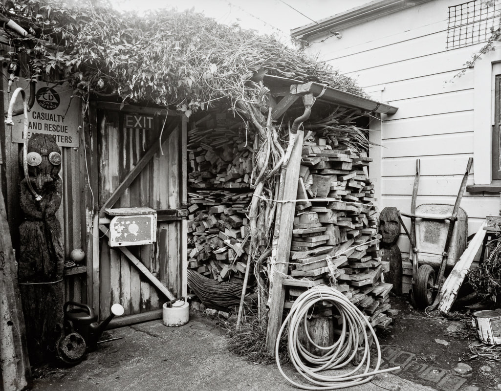 Andrew Ross - Filled the woodbox, 12-4-2020,, what Ive done in the lockdown, silver gelatin large format photography, photography during the covid-19 lockdown in New Zealnd, Photospace Gallery contemporary New Zealand photography wellington nz, a month of sundays online exhibition, Levin Horowhenua during Covid-19 lockdown Alert Level 4, firewood