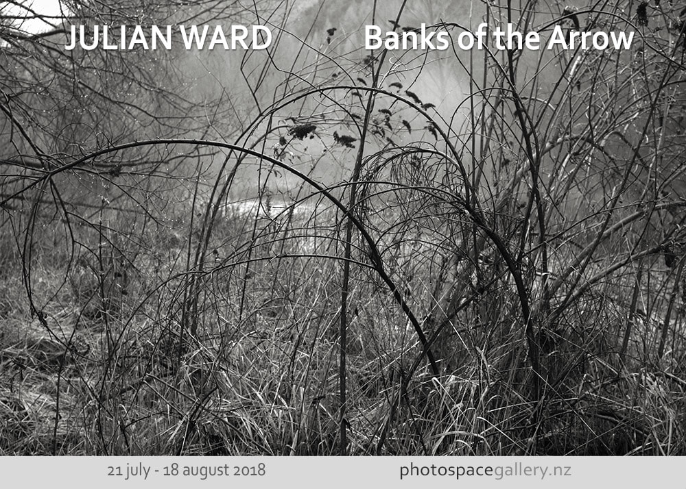 Julian Ward, New Zealand fine art photography, black and white New Zealand South Island landscape photographhs, Arrow River New Zealand, Arrowtown,  New Zealand contemporary photography, Photospace Gallery contemporary fine art photography Wellington NZ