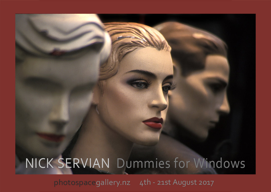 Exhibition poster 'Dummies for Windows', Nick Servian, Photospace Gallery fine art photography Wellington New Zealand
