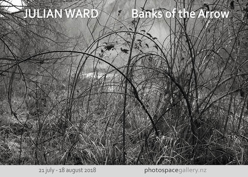 Photo: Julian Ward, from Banks of the Arrow series, Photospace Gallery contemporary New Zealand Photography, Wellington new Zealand, NZ black and white landscape photography, arrow river Arrowtown