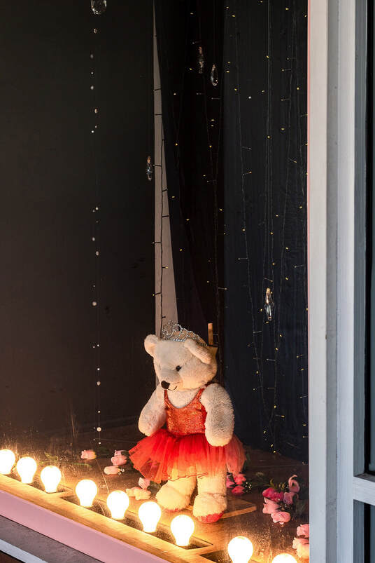 Peter Black, 'A Month of Sundays - Responses to the Covid-19 Lockdown' online exhibition at PhotospaceGallery.nz, teddy bear in window