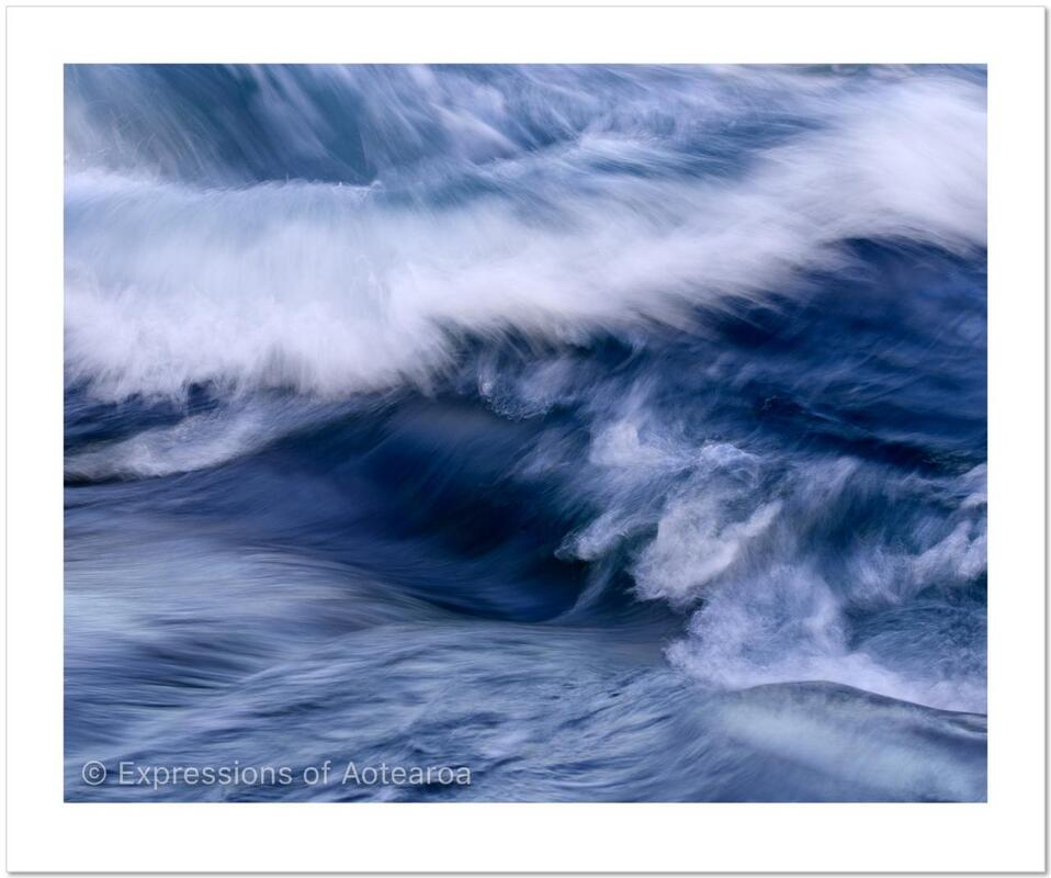 Richard Young - 'Wave Study no.1', Expressions of Aotearoa - New Zealand landscape photography exhibition, Photospace Gallery 37 Courtenay Place Wellington Aotearoa NZ April 2021