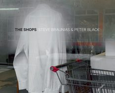 Steve Braunias and Peter Black, book cover of The Shops, Photospace Gallery books
