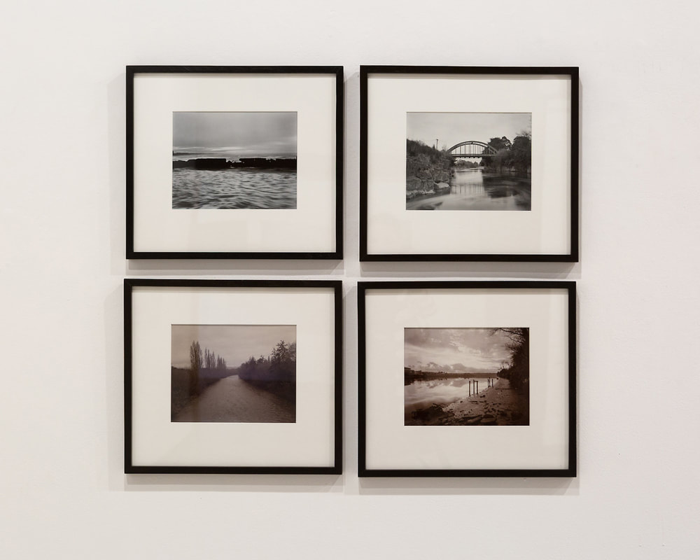 'Where the river bends' photographs by Andrew Ross. Installation photo by Harry Culy.